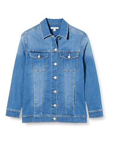 ESPRIT KIDS Mädchen Jacket Lo Jacke, Blau (Medium Wash Denim 463), 164 (Herstellergröße: L)