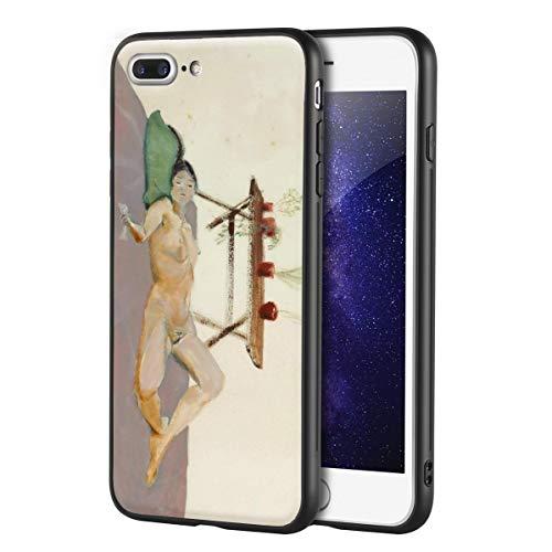 Berkin Arts Yasuo Kuniyoshi Custodia per iPhone 7 Plus&iPhone 8 Plus/Custodia per Cellulare Art/Stampa giclée UV sulla Cover del Telefono(Corpo Umano disteso)