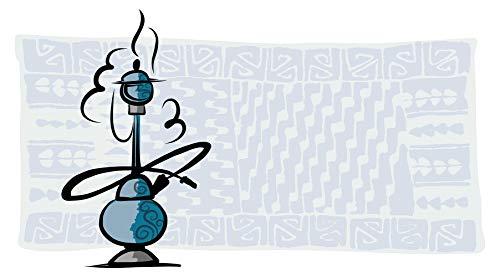Wandtattoo Orient Wandsticker Dampfende Shisha vor einem Orient Teppich orienta