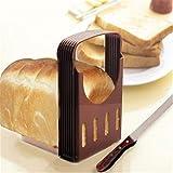 ZDAMN Rebanadora de Pan Tostadas Pan rebanador Hornear Herramientas de Pan marrón Rebanadora de Pan para Cocina (Color, Size : 16x14x22cm)
