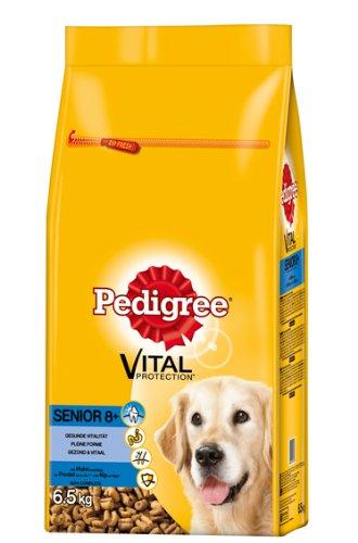 Pedigree Senior 8+ Hundefutter Huhn und Reis, 1 Packung (1 x 6,5 kg)