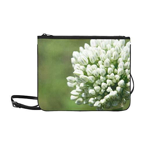 WYYWCY Riesige Zwiebelblume Blühendes Muster Benutzerdefinierte hochwertige Nylon Schlanke Handtasche Umhängetasche Umhängetasche