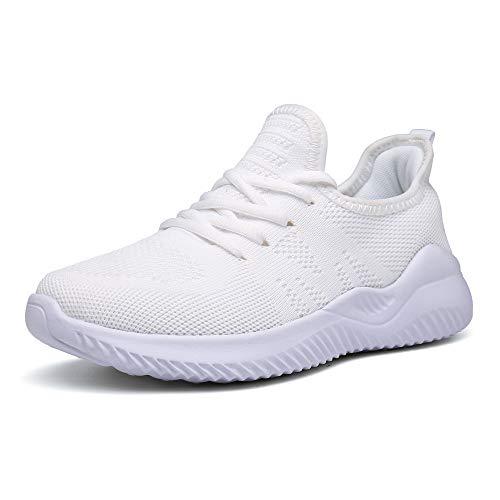 Zapatos Correr Mujer Running Zapatillas Deportivo Fitness Sneakers Ligero Blanco 36 EU