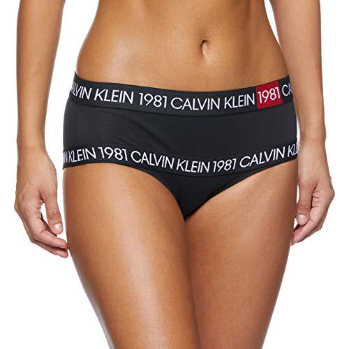 Calvin Klein Jeans High Waist Hipster Slip Femme et Autres sous-vêtements Femmes Noir - Noir - Noir, X-Small