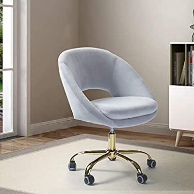 Velvet Rounded Task Chair from TINA'S HOME