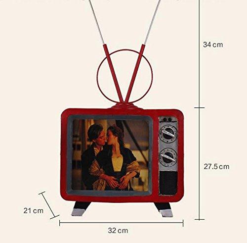 New One Day YYY-Modelo de Hierro Decorativo Antiguo Cafe Bar Retro Vintage de la exhibición de la Ventana de TV, 32x21x63: Amazon.es: Hogar