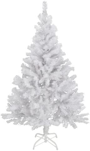 Albero Di Natale Bianco.Albero Di Natale Artificiale Bianco 180 Cm Amazon It Casa E Cucina