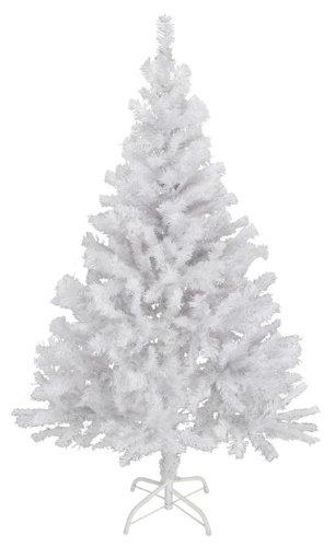 Spetebo Künstlicher Weihnachtsbaum 120 cm in weiß - mit Metallständer