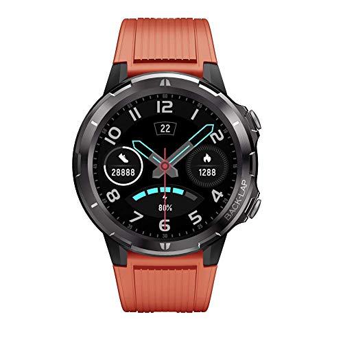 Lintelek SmartWatch Fitness Tracker Touchscreen SmartWatch wasserdichte Uhr mit Herzfrequenzmesser Schrittzähler Schlafmonitor Stoppuhr für Männer und Frauen kompatibel mit Android und iOS (Orange)