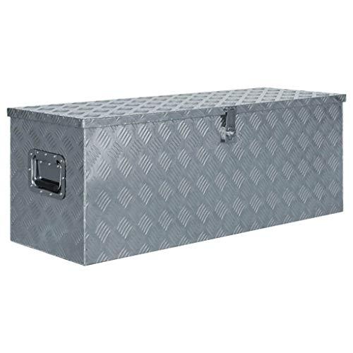 vidaXL Werkzeugbox Aluminium 110,5x38,5x40cm Alu Box Koffer Transportkiste