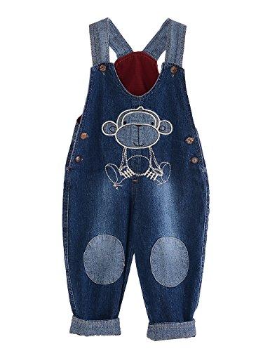 GGBaby@ Latzhose Kinder Baby Jungen Mädchen Jeanshose Latzhosen Jeans Hosen Baby Kinder Overall AFFE 110