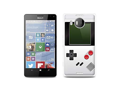 etuo Handyhülle für Microsoft Lumia 950 XL - Hülle, Silikon, Gummi Schutzhülle - Weißes Game Boy