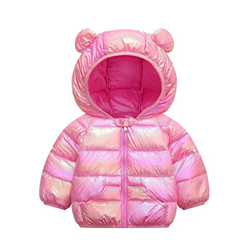 Toddler Baby Boys Girls Cartoon Hoodie Jacket Windproof Coat Warm Thick Winter Outerwear Clothes