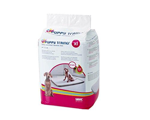 Savic Almohadillas empapadoras Entrenamiento de Cachorro, XL, Color Blanco