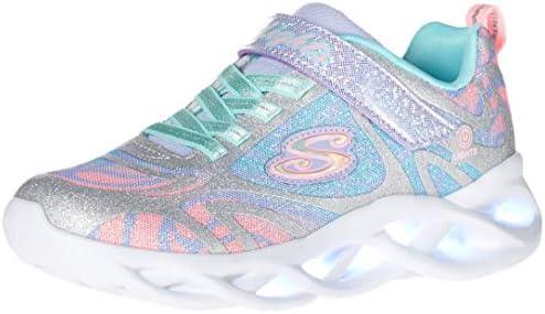 Skechers Kids Girls Sport Footwear S Lighted Sneaker Silver Multi 11 Little Kid product image