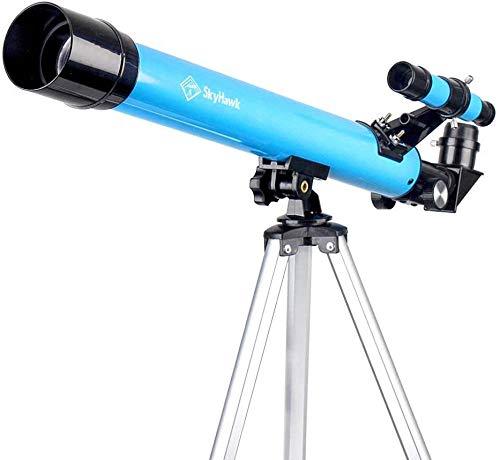Telescopio 50 mm Aparture 600 mm Montaje AZ -Vidrio óptico totalmente revestido -Fácil y rápido montaje-Trípode ajustable-Mochila diseñada- Buen telescopio de viaje para niños y principiantes