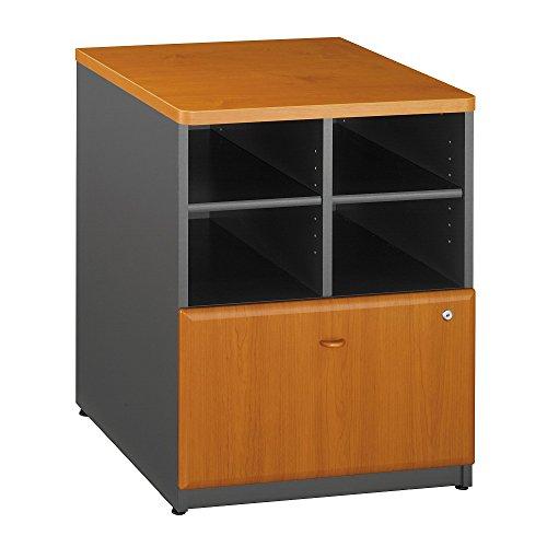 Bush Business Furniture Series A 24W Storage Cabinet - Natural Cherry/Slate 24W X 23D X 30H Ergonomichome American Made TAA Compliant