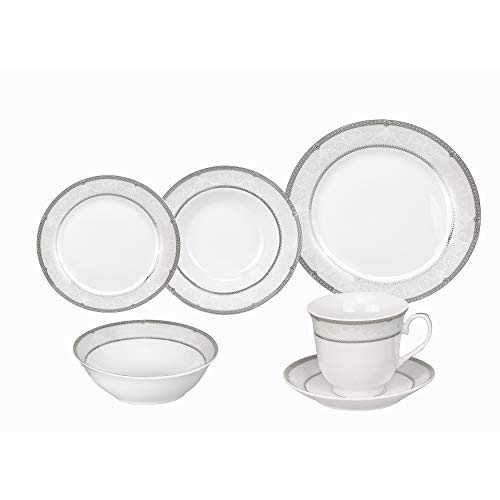 Lorren Home Trend s Ballo Porcelain Dinnerware 24-piece Set