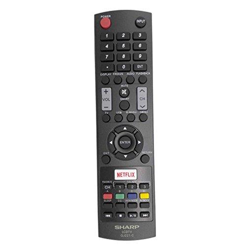 USARMT GJ221-C TV Remote Control Compatible with Sharp LC32LE653U LC40LE653U LC43LE653U LC48LE653U LC55LE653U LC65LE645U LC65LE653U