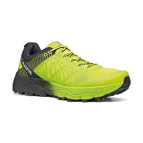 SCARPA Spin Ultra, Trail Running Uomo, Acid Lime-Black ARS6 Velox Max LB, 42 EU