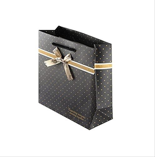 Bolsa de regalo 24Pcs |Bolsa de compras |Bolsa de regalo de cumpleaños de la boda de vacaciones |Bolsa de compras |Bolsa de papel |Negro 20 * 20 * 8 cm