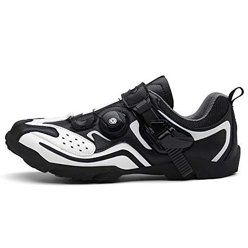 Hotdayy Bike Shoes for Women,Mens Cycling Shoes,Road Biking Shoes Spin Cycle Shoe with Unisex Black