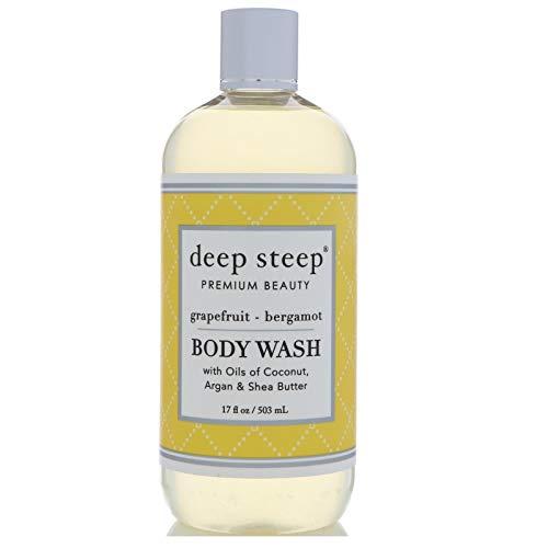 Huile dArgan Body Wash, Pamplemousse Bergamote, 17 fl oz (502 ml) - Steep profonde