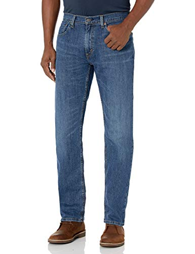 Levi's Men's 559 Relaxed Straight Fit Jean - 34W x 32L - Steely Blue - Stretch