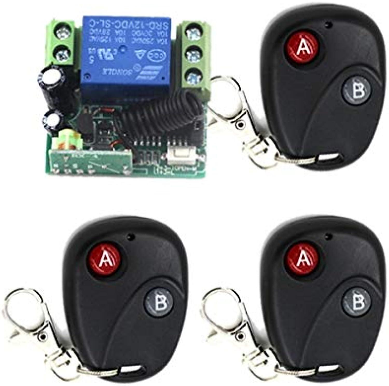 DC 12V 10A 1 Channel Smart Wireless Remote Control Switch InterLock Black AB Type Transmitter Mini Receiver SKU  5560