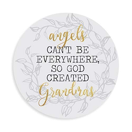 Angels Cant Be Everywhere so God Created Grandma's 8' Mouse Pad | Made in The USA | Mouse Mat with Design | Non-Slip Rubber Base