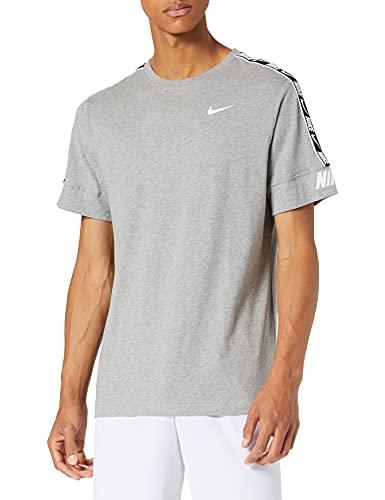 NIKE Camiseta Deportiva para Hombre, Hombre, Camiseta, CZ7829-064, Gris y Blanco, Medium