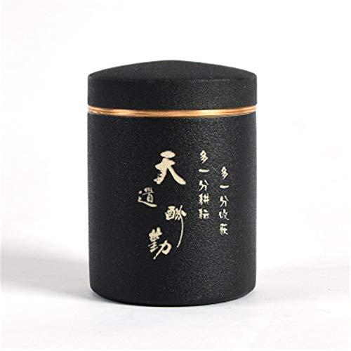 TLZD Keramik Vorratsbehälter zur Aufbewahrung von Lebensmitteln wie Kaffeebohnen, Nüssen, Müsli, Keksen, Konfekt etc. Keramiktöpfe auch für Hausdekoration, Küchendekoration, keramik, B, 4inch×2.9inch