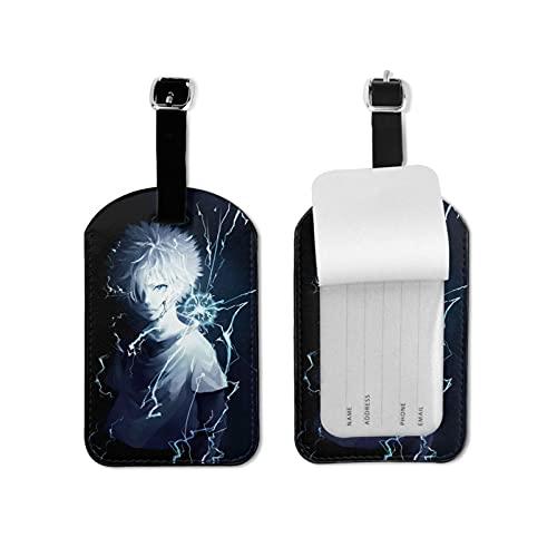 Hunter x Hunter etiqueta de equipaje elegante y exquisita, hecha de piel sintética de microfibra, apta para maleta y bolso