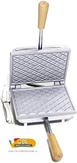 CBE elettrodomestici Gaufrier pour gaufrettes et gaufres fines 18 x 14 cm Fabriqué en Italie