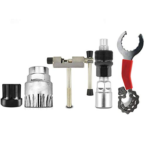 Pumpumly Bicycle Repair Tool Kits, Mountain Bike Chain Cutter Chain Remover Bracket Remover Freewheel Remover Crank Puller Remover