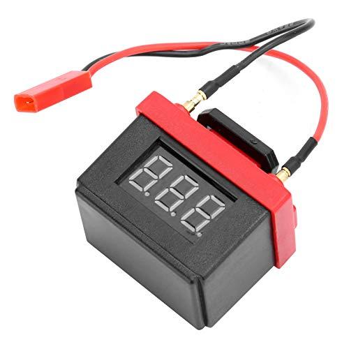 RBattery Alarma de bajo voltaje 6.5V Simulación de batería Alarma de bajo voltaje RCBattery Alarma de bajo voltaje para modelo de coche RC para SCX10(black)