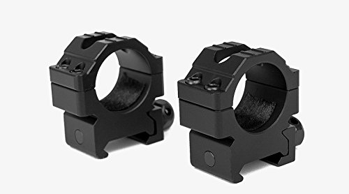 M1SURPLUS Tactical Heavy Duty Low Height Aluminum Matte Black Scope Rings Fits Weaver Picatinny Rails SR22 M&P Hi-Point Carbine Kel-Tec SU22 Mossberg 715t MVP Predator Remington 770 Rifles