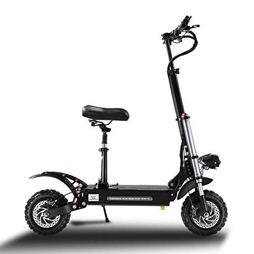 Scooter eléctrico 5400 W velocidad máxima 85 km/h carga 400 kg para adultos/adolescentes ligero ajustable plegable adulto Kick City Scooter Commuter