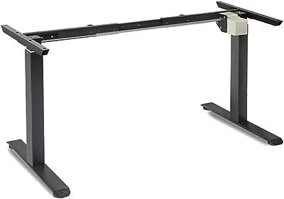 Standing Desk Height Adjustable Sit Stand Motorised Single Motor Frame Black Only