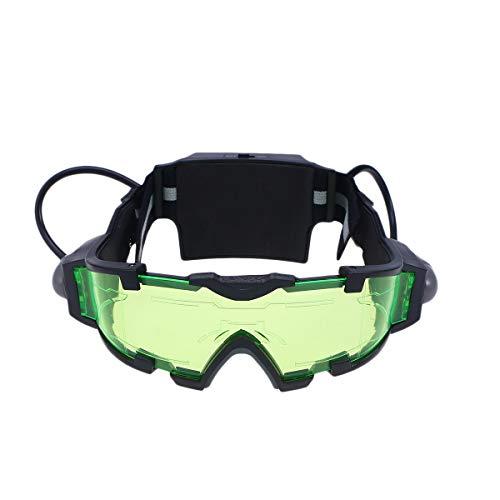 Schutzbrille Sicherheit Grüne Brille Einstellbar Kinder Nachtbrille Eyewear Spy Nachtsichtbrille für Rennradfahren
