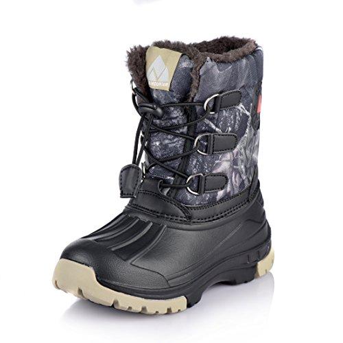 Nova Mountain Boys Girls Little Kids Winter Snow Boots,NF NFWBNN02 CamouflageGrey 7