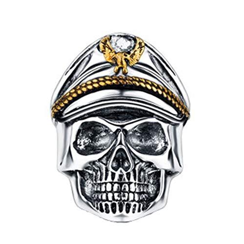 XSZJ Ring Legion Totenkopf Ring Öffnung verstellbar