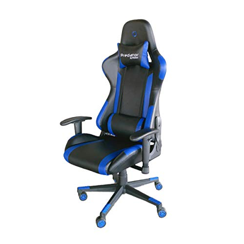 PRIXTON Predator Gaming Chair 10B - Silla Gaming/Silla Gamer con Altura y Reposabrazos Ajustables, Reclinable 180º,...