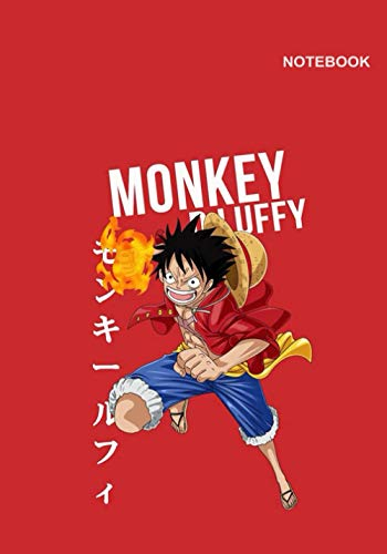 One Piece mini notebook for children: College-Ruled Notebook for student, 110 Pages, B5 (7 x 10 inches), Monkey D.Luffy One Piece Red Notebook Cover.