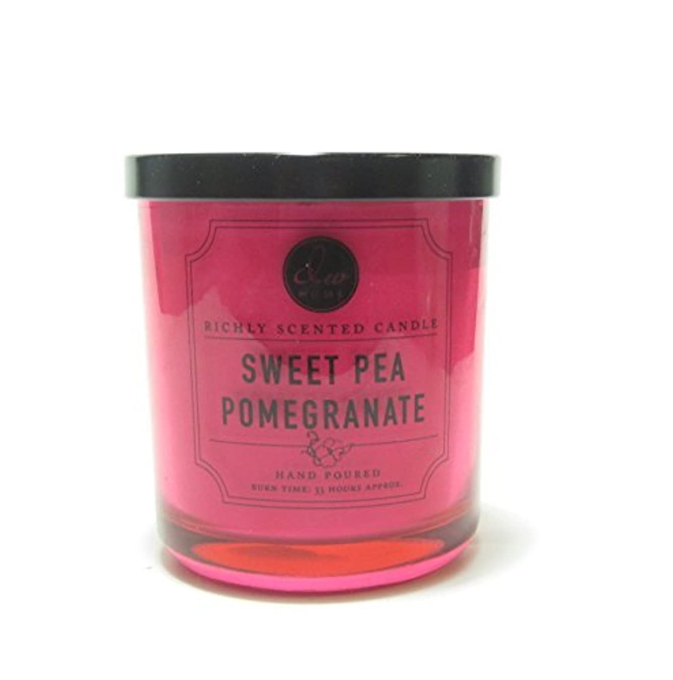 DW Home Decoware Richly Scented Candle --- Sweet Pea Pomegranate Medium Single wick 9.69 oz