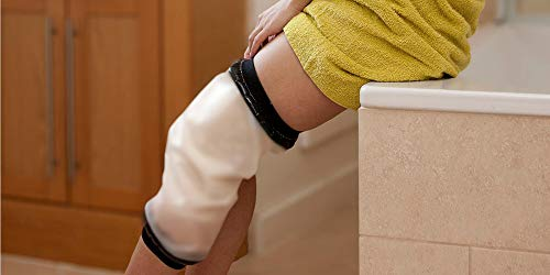 Adult Knee Cast Covers Shower Waterproof Leg Shower Protector for Knee Replacement Surgery, Watertight to Keep Cast and Bandage Dry