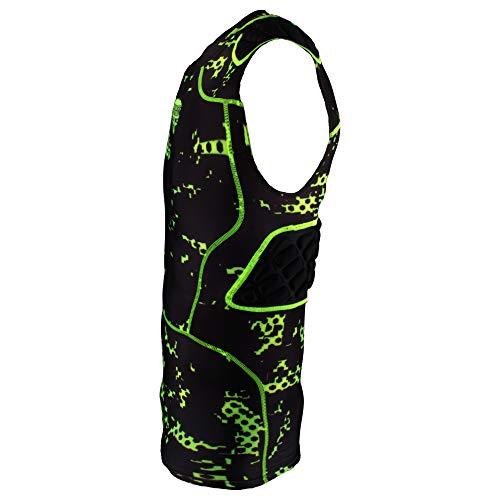 5 Pad Digi Protection Shirt Badass mit Rippenpolsterung - schwarz/neongrün Gr. 2XL