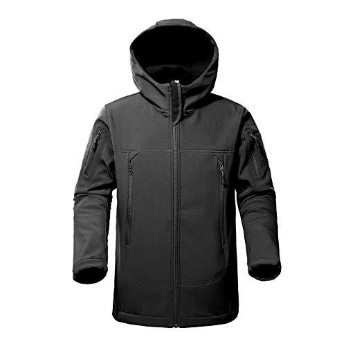 FLYING EAGLE Men's Tactical Jacket Army Outdoor Coat Camouflage Softshell Fleece Jacket Hunting Jacket