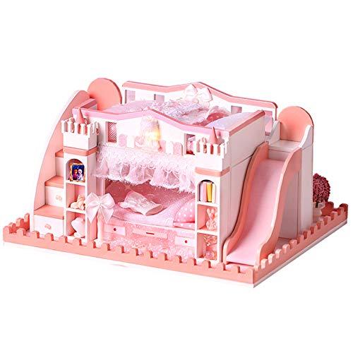 Asixxsix Casa de Juguete, casa en Miniatura niños constructores Principiantes(K-052 Standard)