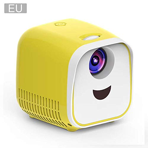 L1-projector L1-projector, draagbaar, 1080P, full HD led-filmprojector, resolutie 1920 1080p, projectiebeeld 40 – 100 inch, home theater videoprojector met HDMI-kabel voor USB, tv, laptop, spel, mini.